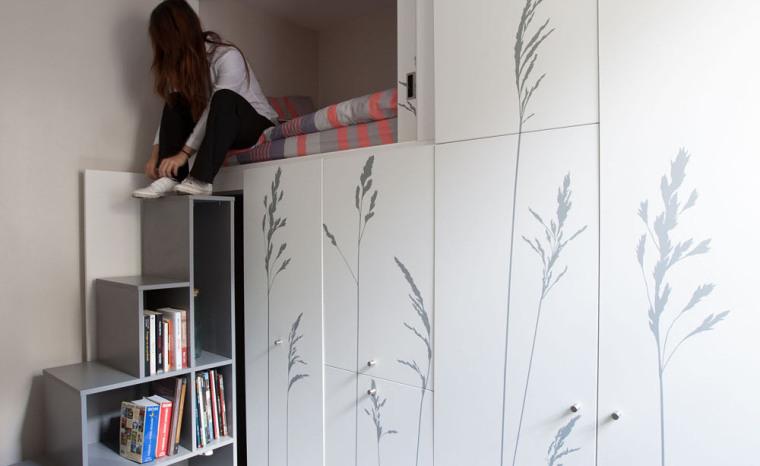 法国极限利用空间的公寓室内实景-法国极限利用空间的公寓第2张图片