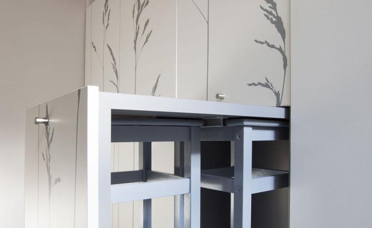 法国极限利用空间的公寓室内局部-法国极限利用空间的公寓第7张图片