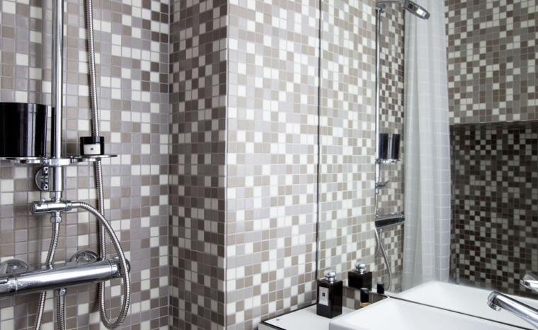 法国极限利用空间的公寓室内浴室-法国极限利用空间的公寓第11张图片
