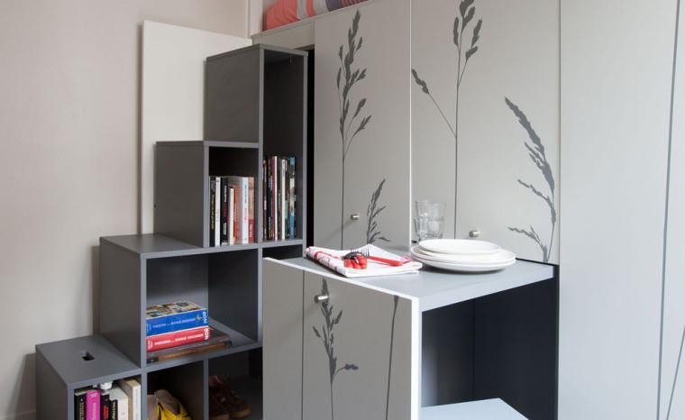 法国极限利用空间的公寓室内细节-法国极限利用空间的公寓第13张图片
