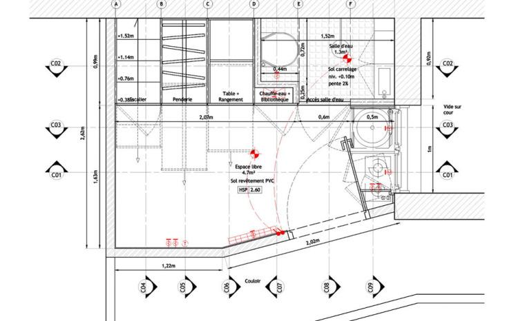 法国极限利用空间的公寓平面图-法国极限利用空间的公寓第24张图片