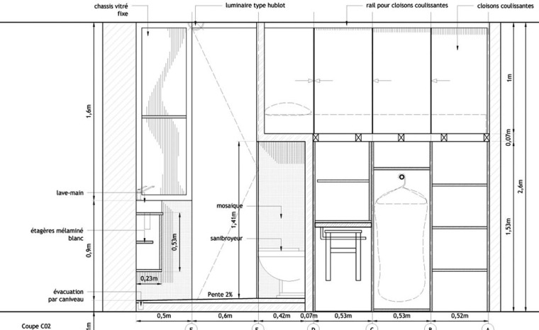 法国极限利用空间的公寓平面图-法国极限利用空间的公寓第21张图片