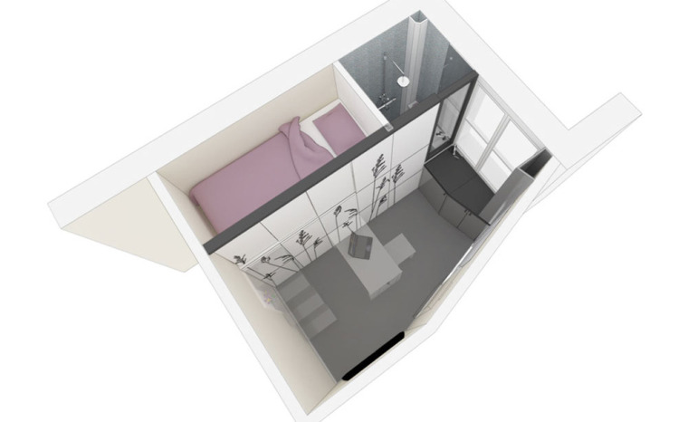 法国极限利用空间的公寓模型图-法国极限利用空间的公寓第18张图片