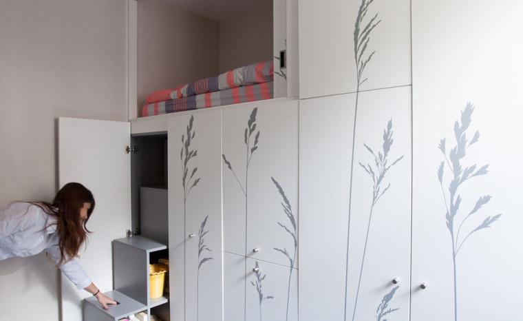 法国极限利用空间的公寓室内实景-法国极限利用空间的公寓第17张图片