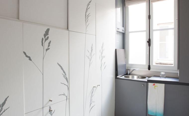 法国极限利用空间的公寓室内实景-法国极限利用空间的公寓第16张图片