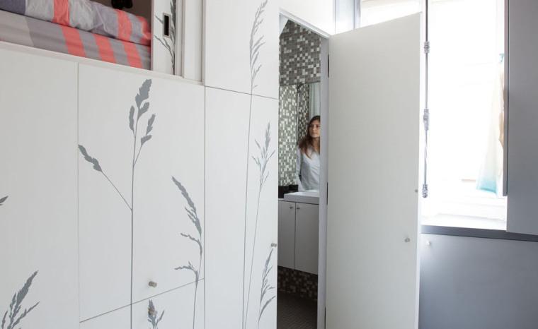 法国极限利用空间的公寓室内实景-法国极限利用空间的公寓第15张图片