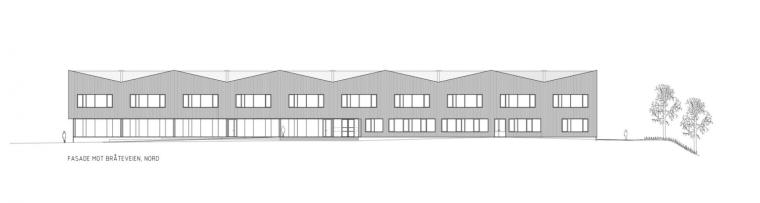 挪威Bratejordet中学正面图-挪威Bratejordet中学第23张图片