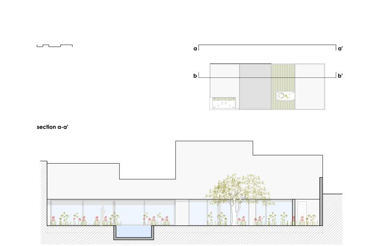 西班牙单亲家庭花园住宅剖面图-西班牙单亲家庭花园住宅第16张图片