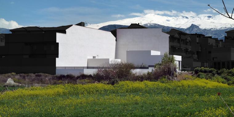 西班牙单亲家庭花园住宅外部实景-西班牙单亲家庭花园住宅第2张图片