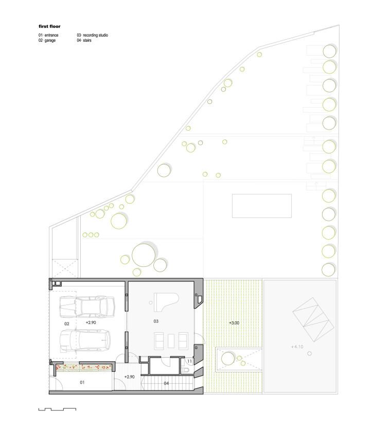 西班牙单亲家庭花园住宅平面图-西班牙单亲家庭花园住宅第15张图片