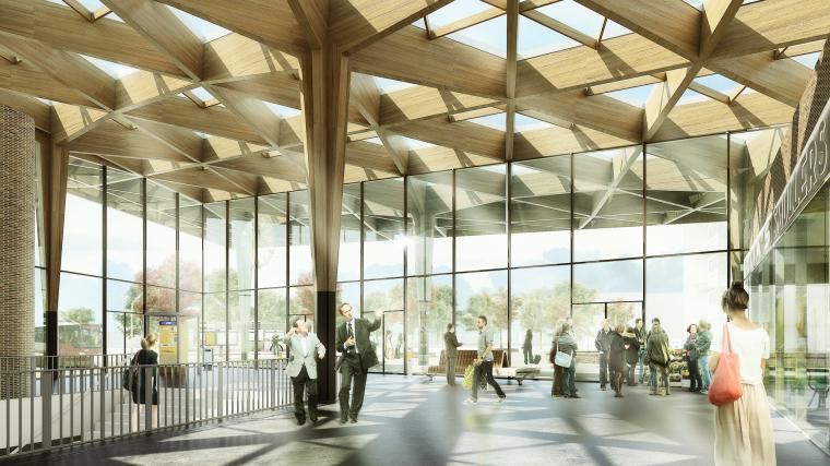荷兰阿森火车站改建内部效果图-荷兰阿森火车站改建第4张图片