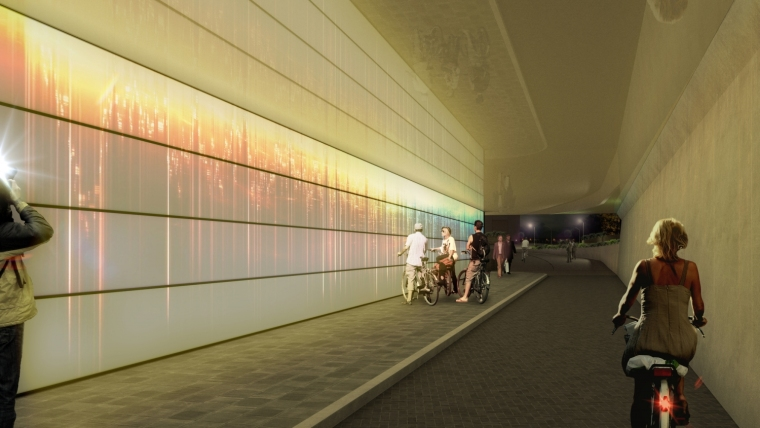 荷兰阿森火车站改建外部夜景效果-荷兰阿森火车站改建第5张图片