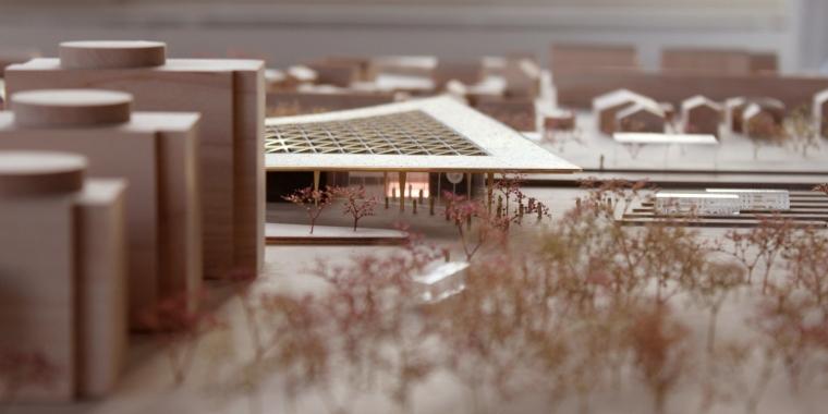 荷兰阿森火车站改建模型图-荷兰阿森火车站改建第7张图片