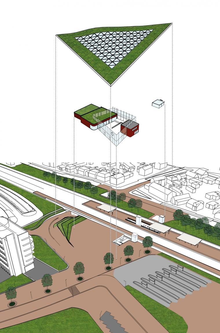 荷兰阿森火车站改建分析图-荷兰阿森火车站改建第9张图片