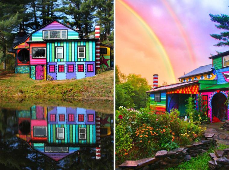 美国艺术家的七彩虹小屋外部实景-美国艺术家的七彩虹小屋第8张图片