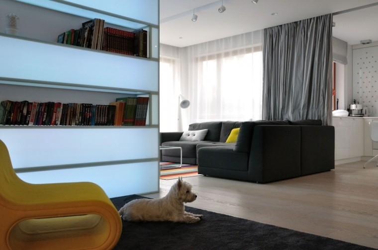 波兰的圆顶公寓室内客厅实景图-波兰的圆顶公寓第7张图片