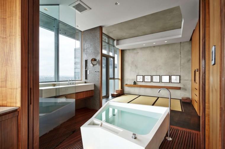 加拿大的顶层公寓室内浴室实景图-加拿大的顶层公寓第4张图片