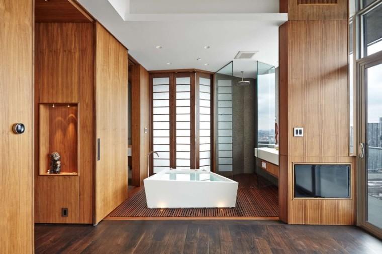 加拿大的顶层公寓室内浴室实景图-加拿大的顶层公寓第5张图片
