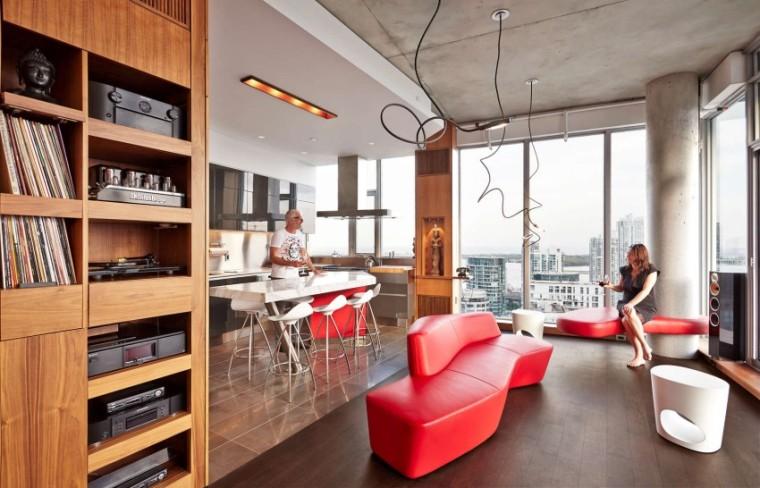 加拿大的顶层公寓室内实景图-加拿大的顶层公寓第11张图片