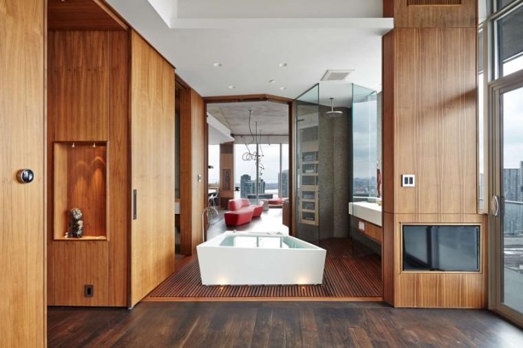 加拿大的顶层公寓室内实景图-加拿大的顶层公寓第2张图片