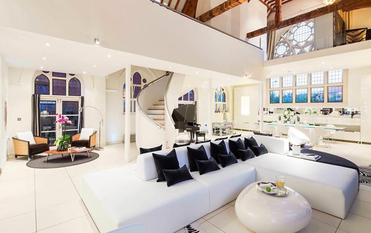 英国一间教堂改造成的现代住宅室-英国一间教堂改造成的现代住宅第7张图片