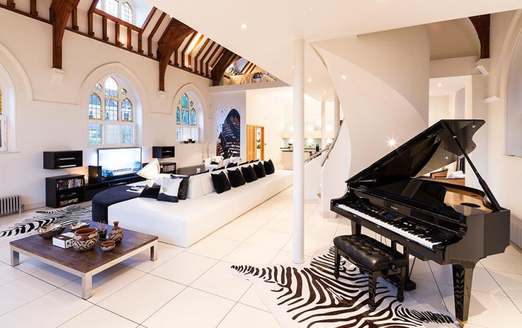 英国一间教堂改造成的现代住宅室-英国一间教堂改造成的现代住宅第5张图片