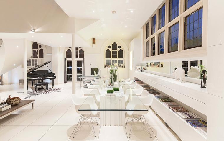 英国一间教堂改造成的现代住宅室-英国一间教堂改造成的现代住宅第6张图片
