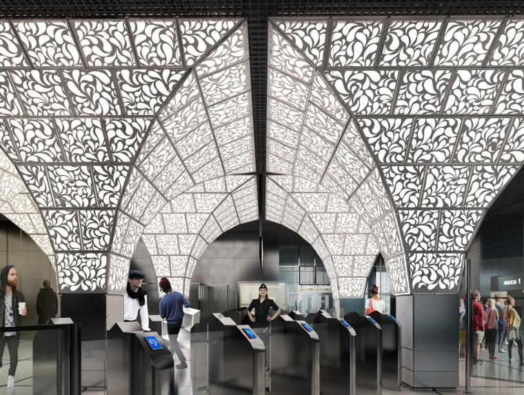 俄罗斯Novoperedelkino地铁站内部-俄罗斯Novoperedelkino地铁站第2张图片