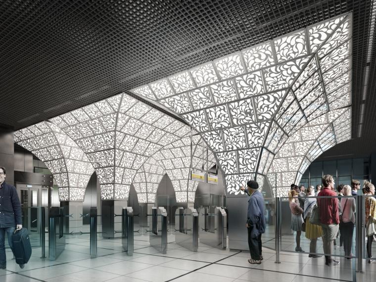 俄罗斯Novoperedelkino地铁站内部-俄罗斯Novoperedelkino地铁站第4张图片