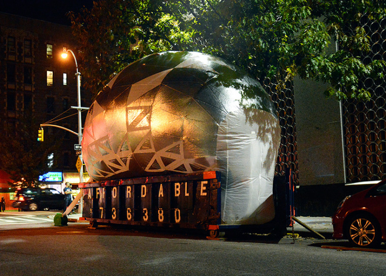 美国充气式城市教育教室外部夜景-美国充气式城市教育教室第9张图片