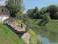 斯洛文尼亚的河岸凉亭