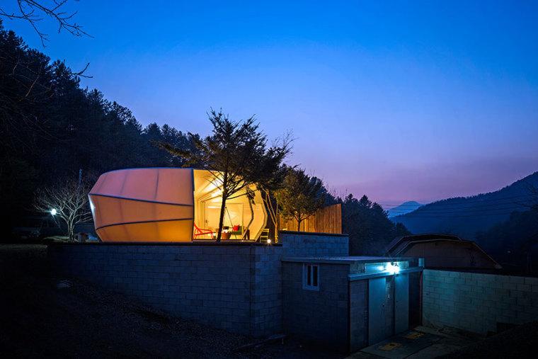 韩国奢华露营帐篷外部夜景实景图-韩国奢华露营帐篷第11张图片