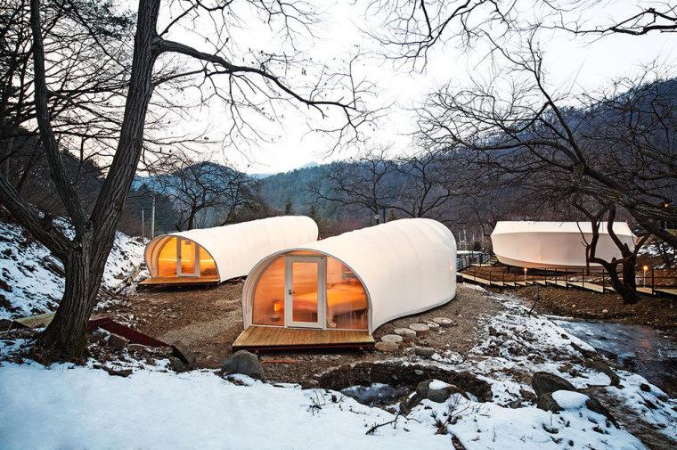 韩国奢华露营帐篷外部实景图-韩国奢华露营帐篷第2张图片