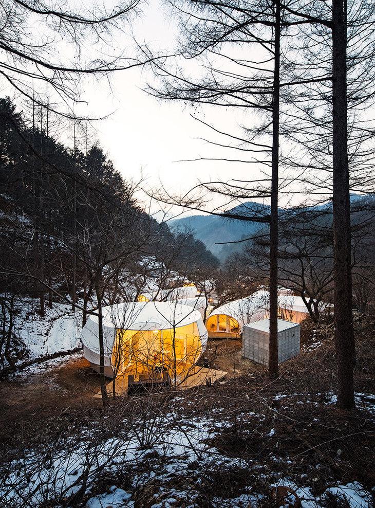 韩国奢华露营帐篷外部实景图-韩国奢华露营帐篷第4张图片