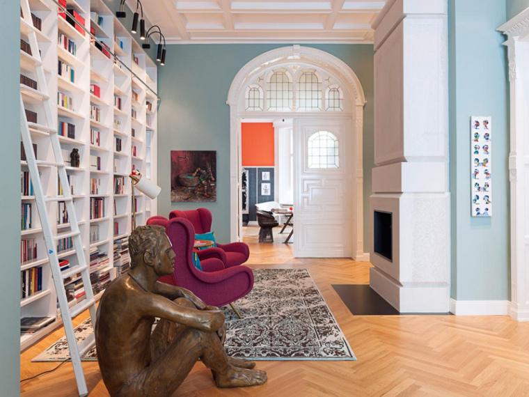 德国的撞色家居空间设计