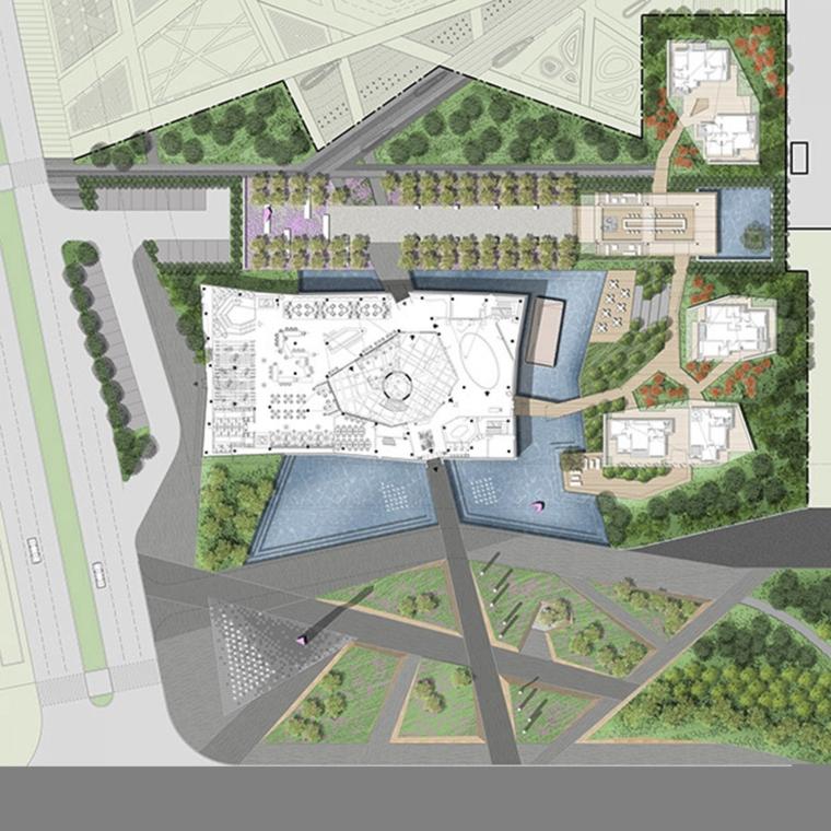 河南郑州万科城售楼中心改造平面-河南郑州万科城售楼中心改造第8张图片
