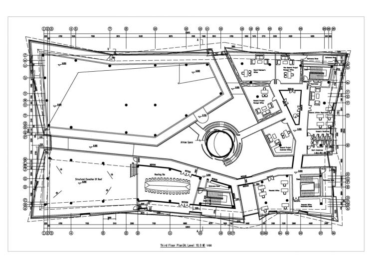河南郑州万科城售楼中心改造平面-河南郑州万科城售楼中心改造第9张图片