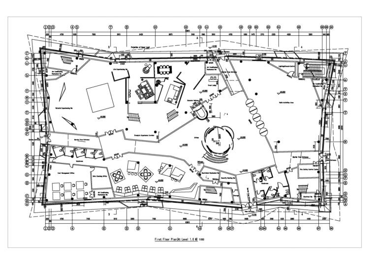 河南郑州万科城售楼中心改造平面-河南郑州万科城售楼中心改造第10张图片