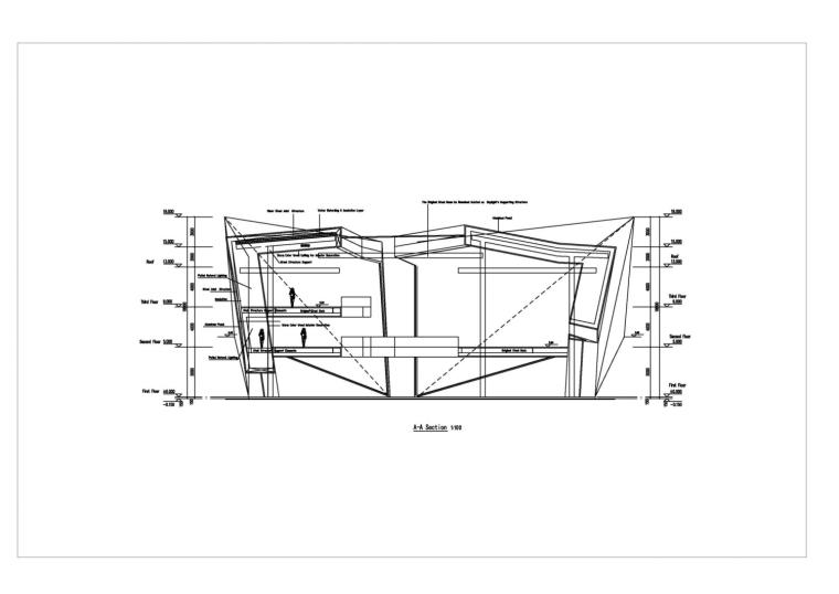 河南郑州万科城售楼中心改造剖面-河南郑州万科城售楼中心改造第17张图片