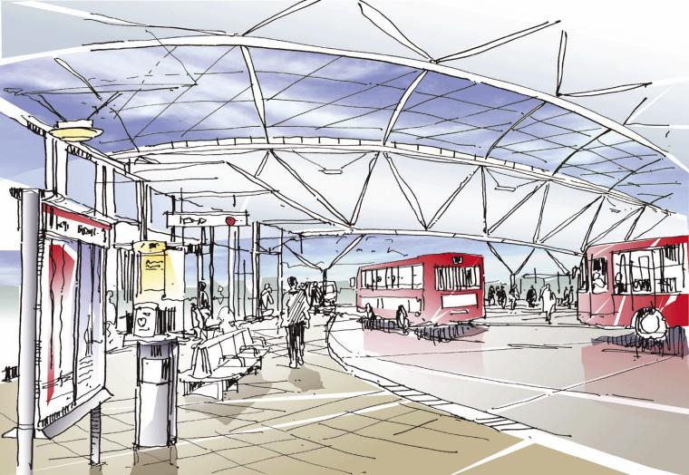 盖茨黑德城铁中心手绘图-盖茨黑德城铁中心第7张图片