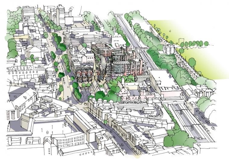 英国伊林狄更斯广场手绘图-英国伊林狄更斯广场第4张图片