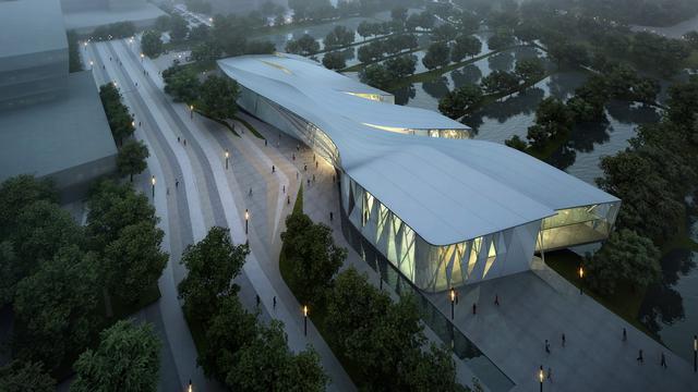 阿里巴巴展示中心外部效果图-阿里巴巴展示中心第5张图片