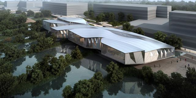 阿里巴巴展示中心外部效果图-阿里巴巴展示中心第7张图片