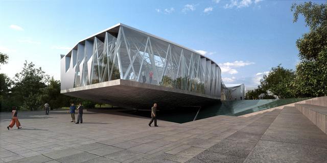 阿里巴巴展示中心外部效果图-阿里巴巴展示中心第4张图片
