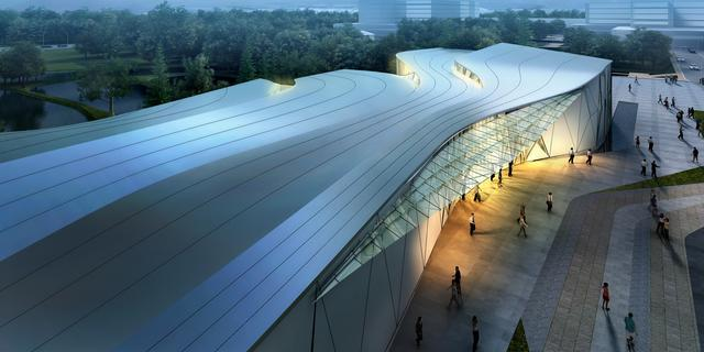 阿里巴巴展示中心外部效果图-阿里巴巴展示中心第6张图片
