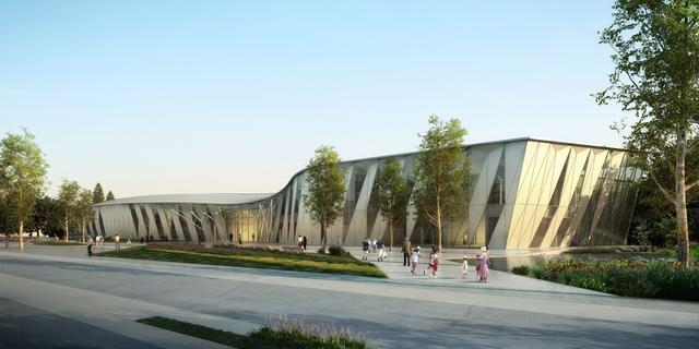 阿里巴巴展示中心外部效果图-阿里巴巴展示中心第3张图片