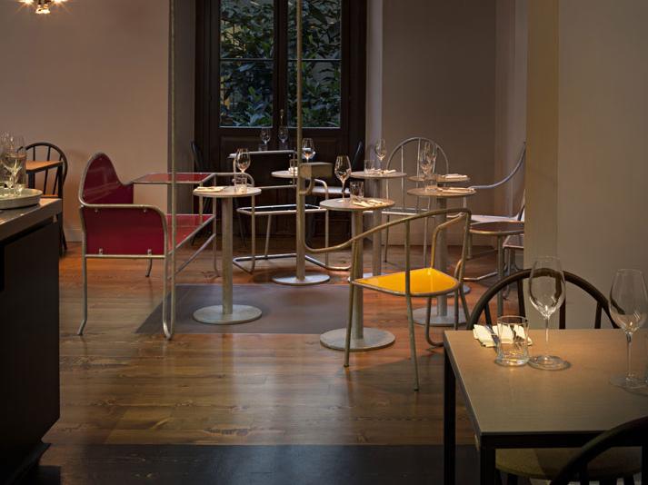 意大利以干爽为设计理念的餐厅