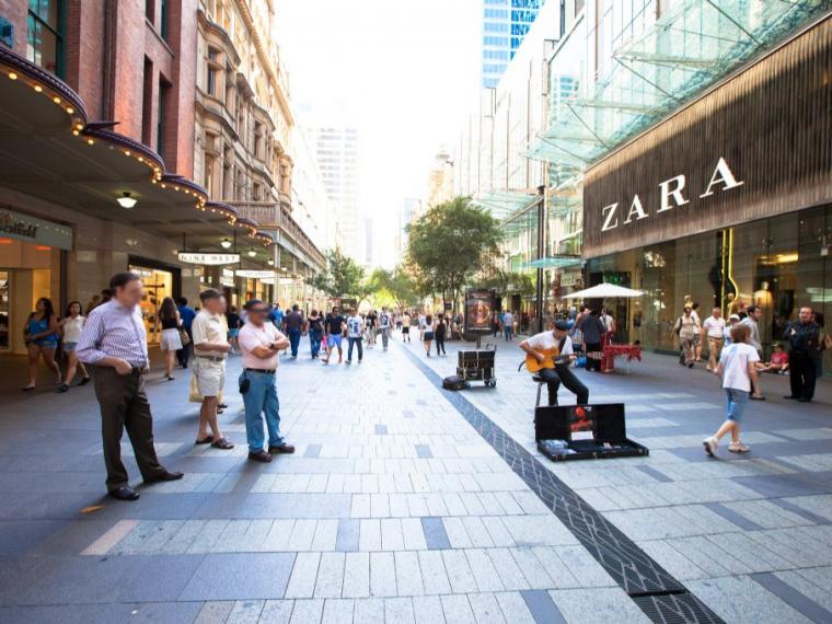 澳大利亚皮特街购物中心景观