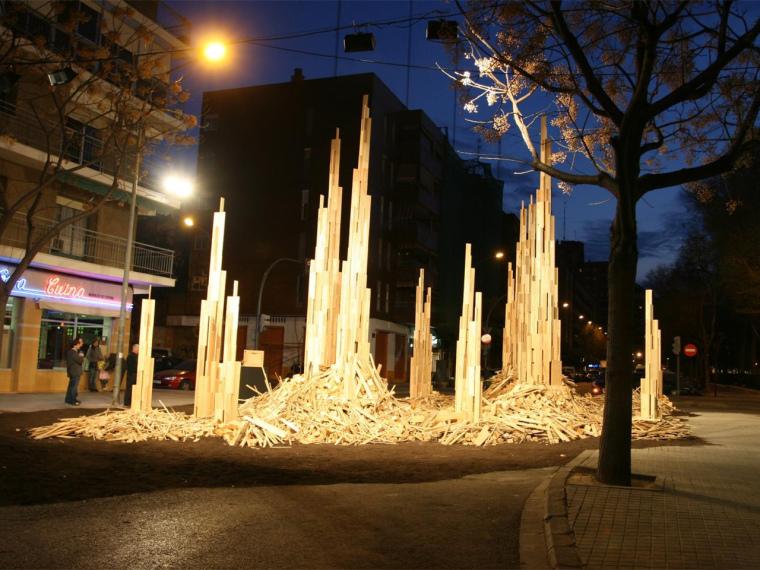 US现代建筑资料下载-西班牙现代生活模式的木质结构