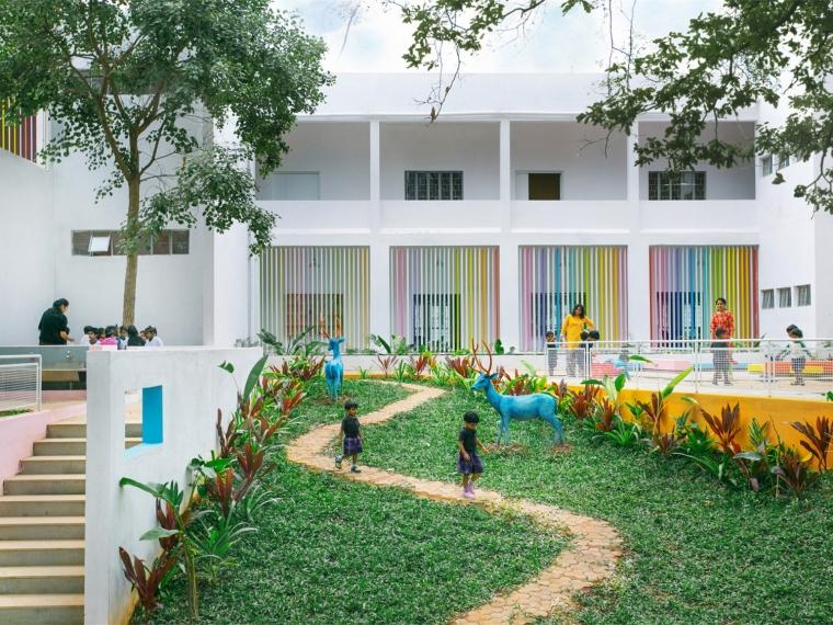 印度儿童活动室外空间